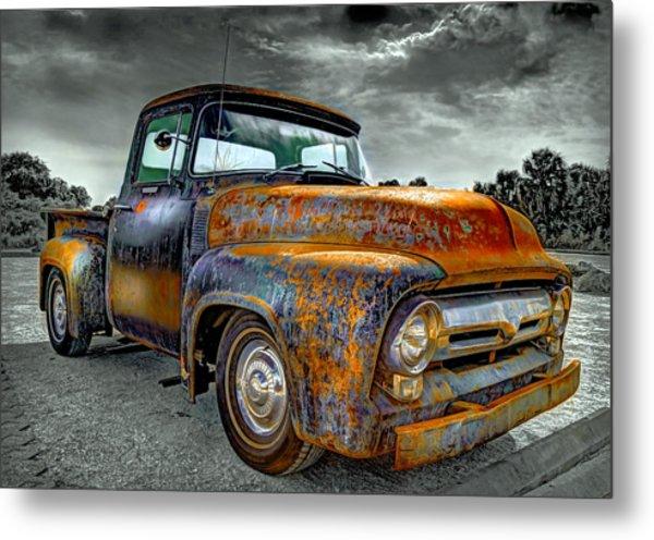 Vintage  Pickup Truck Metal Print