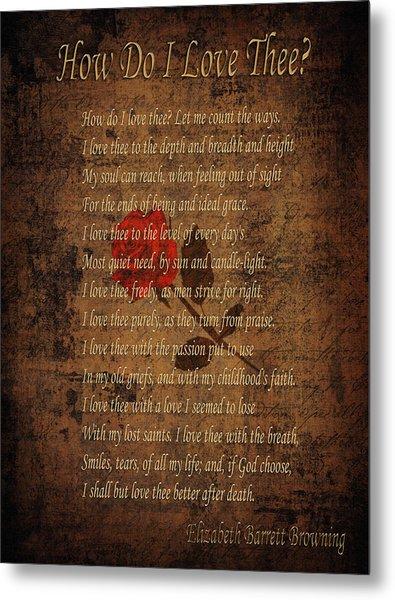 Vintage Poem 4 Metal Print