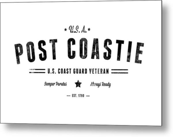 Vintage Post Coastie Metal Print