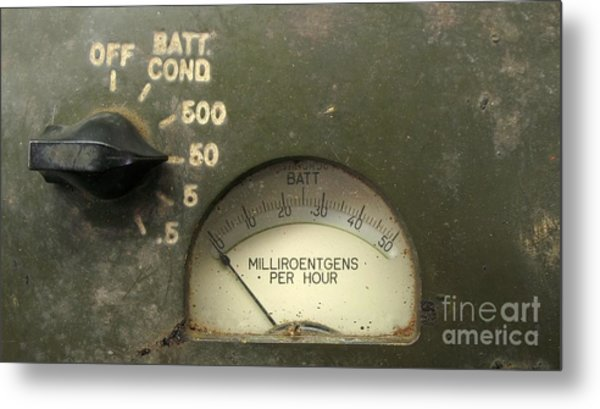 Vintage Radiation Meter Metal Print