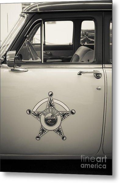 Vintage Sheriffs Police Car Metal Print