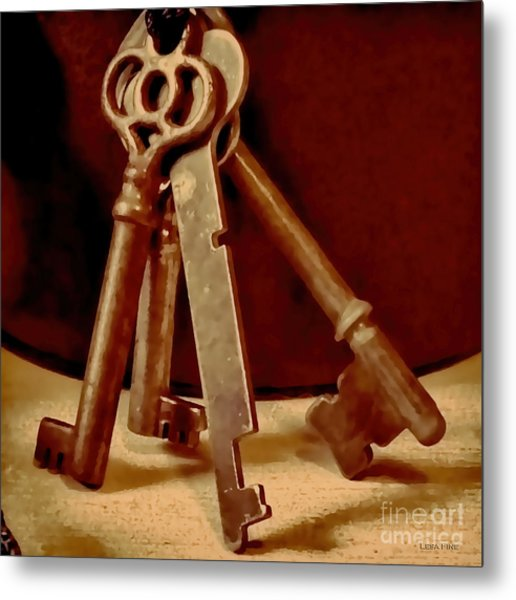 Vintage Skeleton Keys I Metal Print