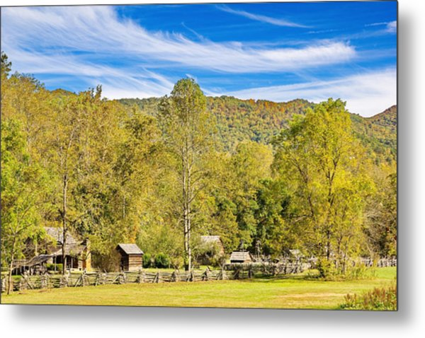 Vintage Smoky Mountain Farm Metal Print