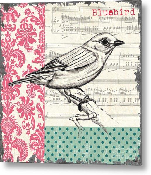 Vintage Songbird 1 Metal Print