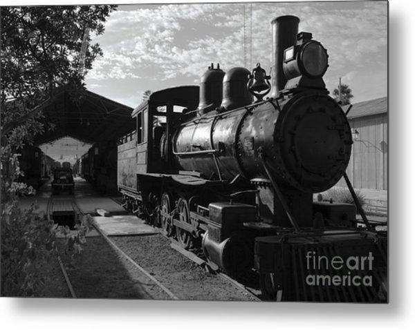 Vintage Steam Engine At Tacna Metal Print