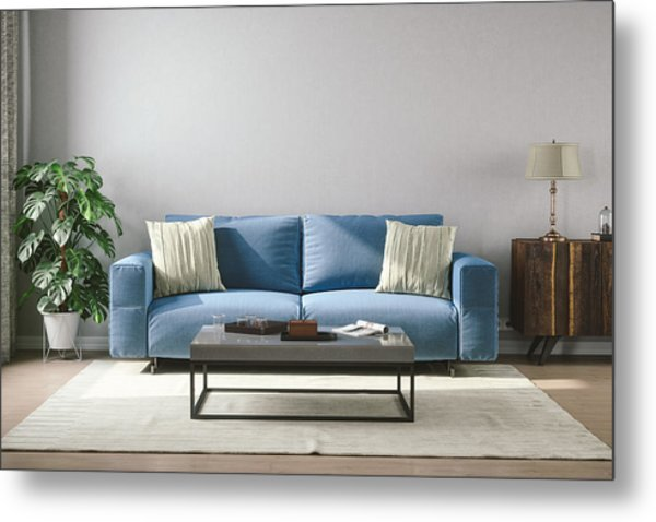 Vintage Style Living Room Metal Print by Imaginima
