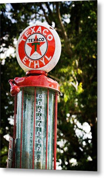 Vintage Texaco Gas Pump Metal Print