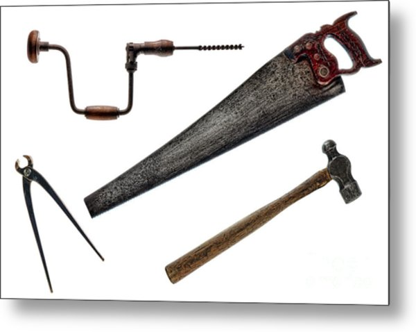 Vintage Tools Collection  Metal Print