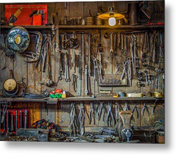Vintage Tools Workshop Metal Print
