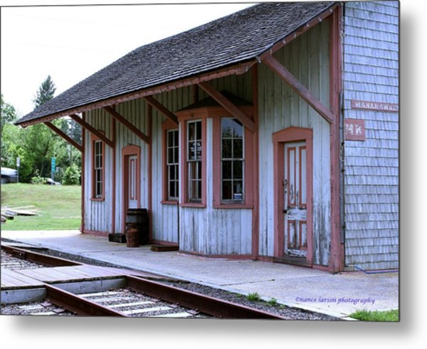 Vintage Train Station Metal Print