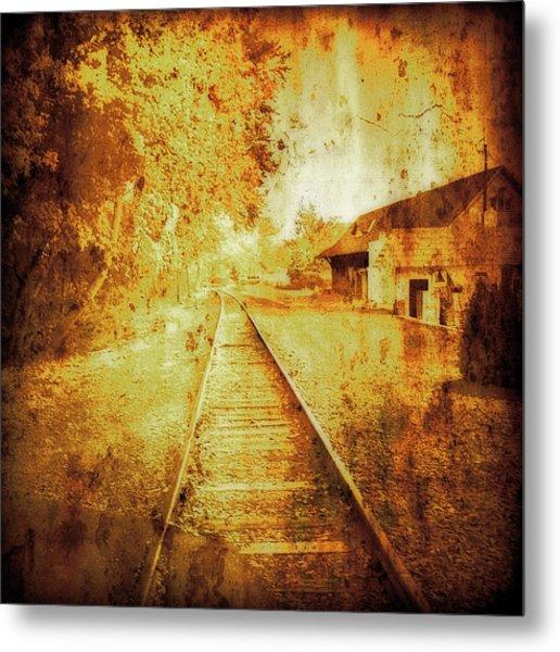 Vintage  Railway Portland Pa Usa Metal Print