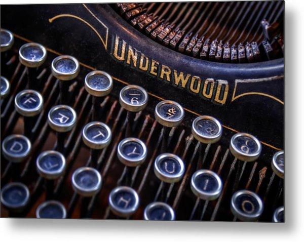 Vintage Typewriter 2 Metal Print