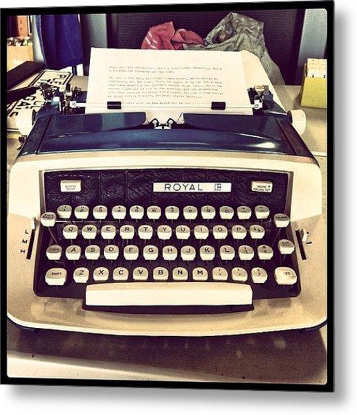 #vintage #typewriter #loveletters Metal Print