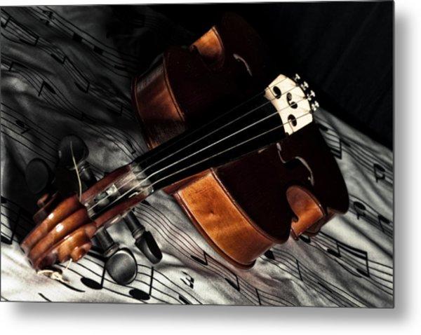 Vintage Violin Metal Print