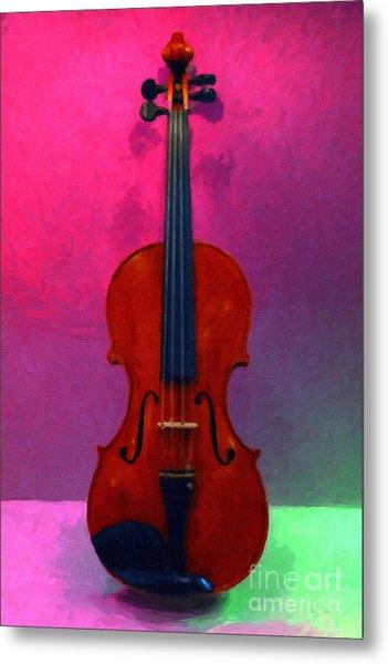 Violin - 20130111 V1 Metal Print by Wingsdomain Art and Photography