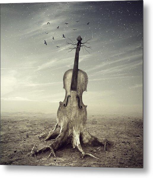 Violin Metal Print by Andrzej Siejenski