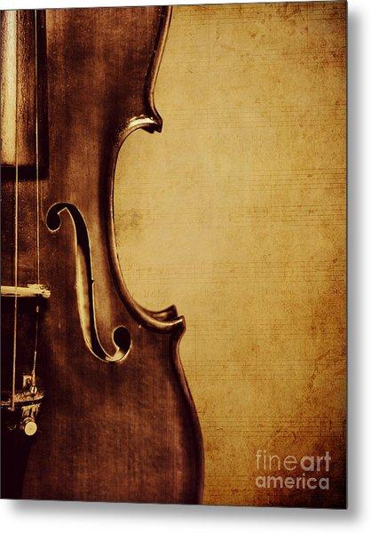 Violin Portrait  Metal Print