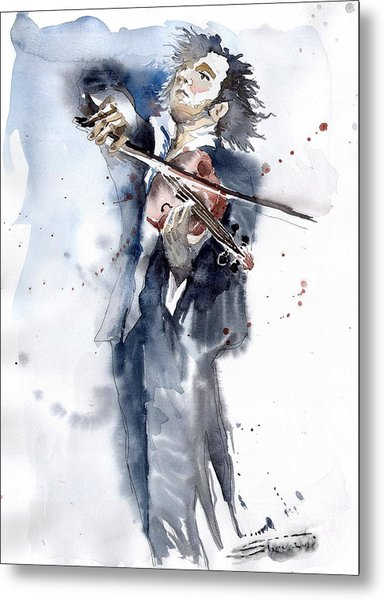 Violine Player 1 Metal Print