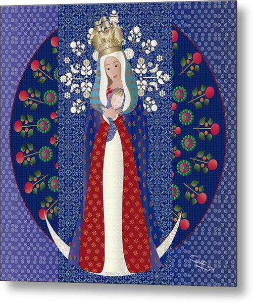 Virgen Posada Del Lago Metal Print
