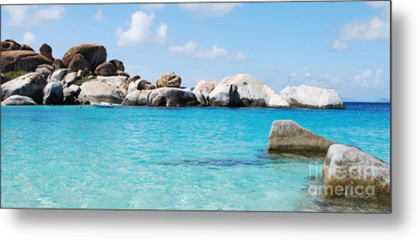 Virgin Islands The Baths Metal Print