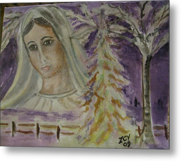 Virgin Mary At Medjugorje Metal Print