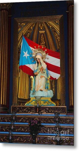 Virgin Mary In Church Metal Print