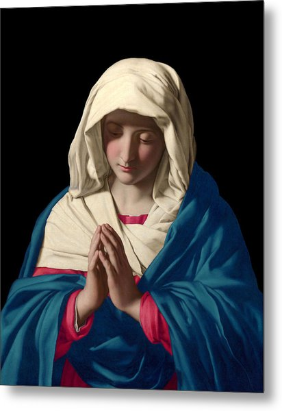 Virgin Mary In Prayer Metal Print