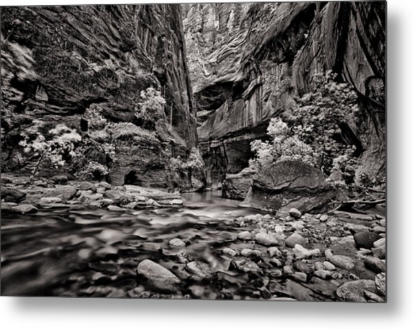 Virgin River Calm Metal Print by Juan Carlos Diaz Parra
