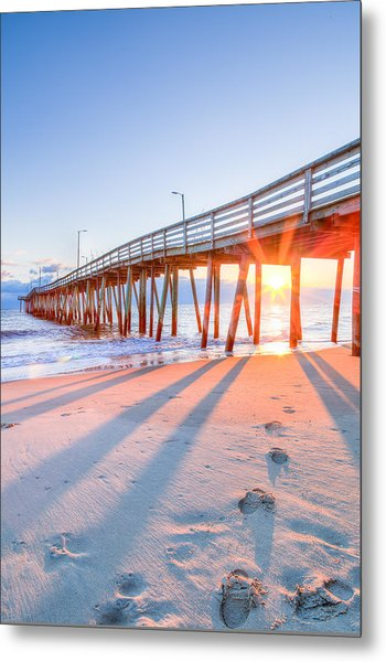 Virginia Beach Fishing Pier Metal Print