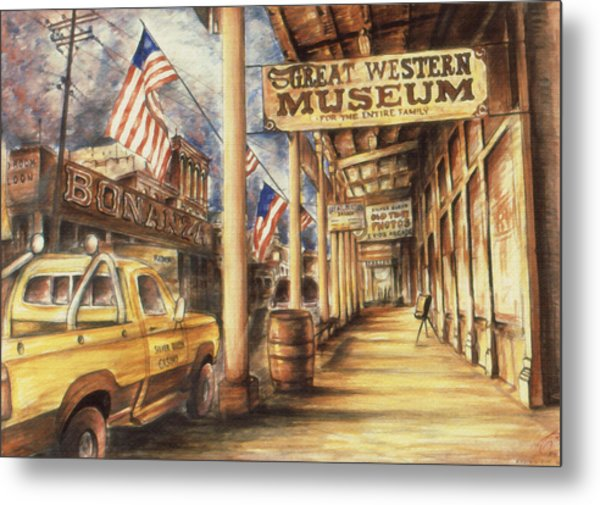 Virginia City Nevada - Western Art Metal Print