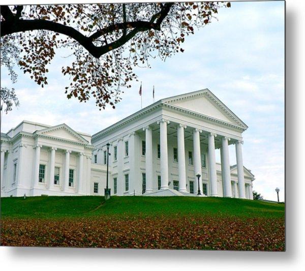 Virginia State Capitol In Autumn Metal Print