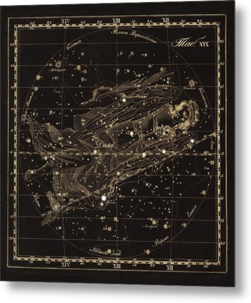 Virgo Constellation, 1829 Metal Print by Science Photo Library