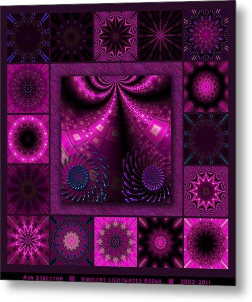 Virulent Lightwaves Redux  Metal Print