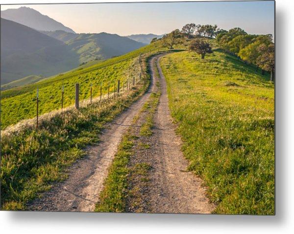 Vista Grande Trail And Mt Diablo Metal Print