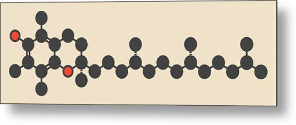 Vitamin E Molecule Metal Print by Molekuul