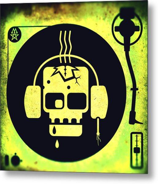 Vivid Zombie Turntable Metal Print