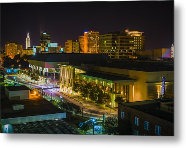 Vividly Downtown Baton Rouge Metal Print