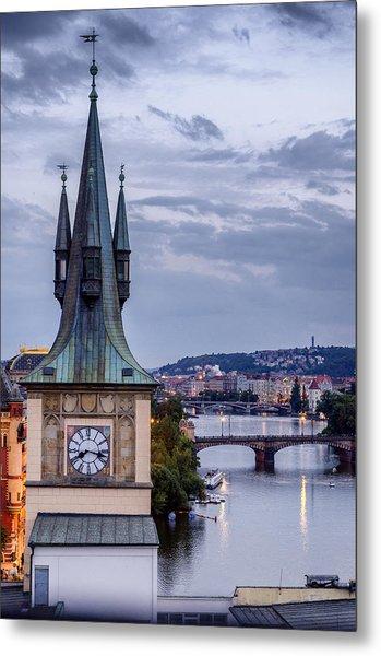 Vltava River In Prague Metal Print