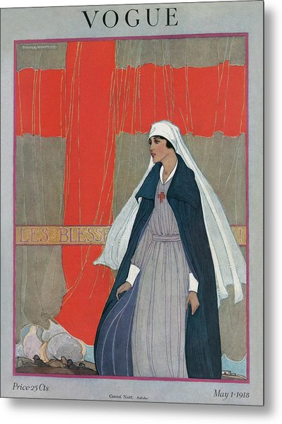 Vogue Cover Featuring A Nurse Metal Print
