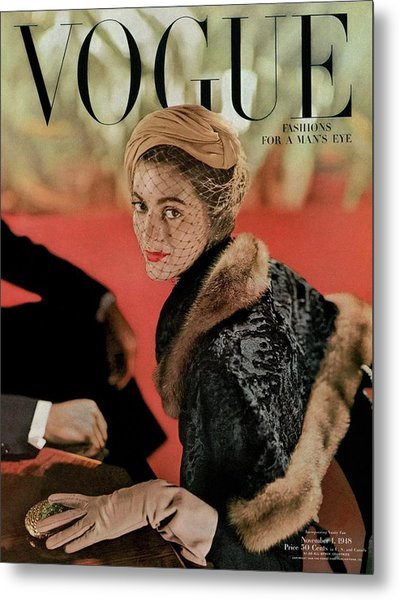 Vogue Cover Featuring Carmen Dell'orefice Metal Print by John Rawlings