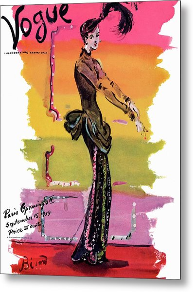 Vogue Cover Illustration Metal Print by Christian Berard
