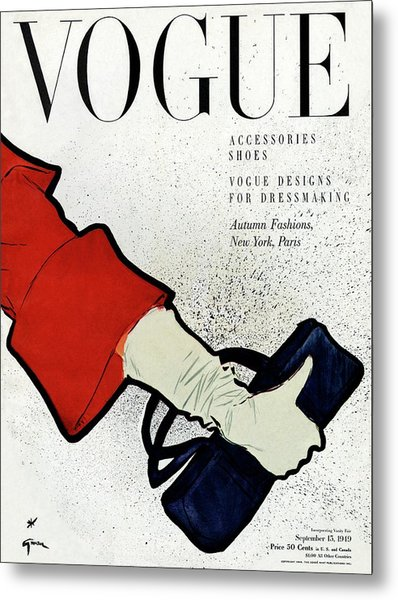 Vogue Cover Illustration Of A Woman's Arm Holding Metal Print