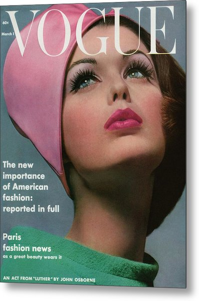 Vogue Cover Of Dorothy Mcgowan Metal Print