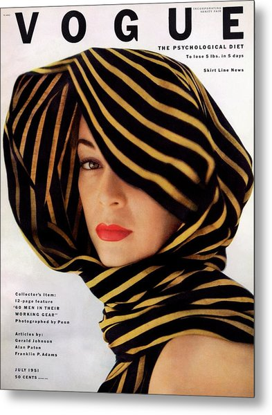 Vogue Cover Of Jean Patchett Metal Print