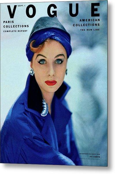 Vogue Cover Of Suzy Parker Metal Print