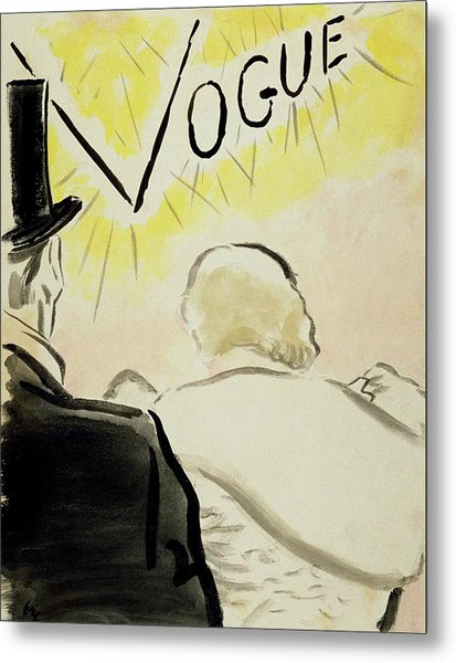 Vogue Magazine Cover Featuring A Couple Seen Metal Print