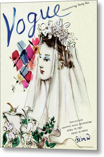 Vogue Magazine Cover Featuring An Illustration Metal Print