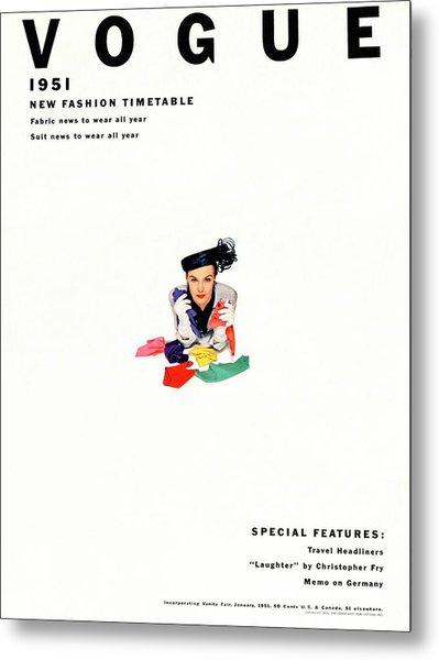 Vogue Magazine Cover Featuring Model Lillian Metal Print