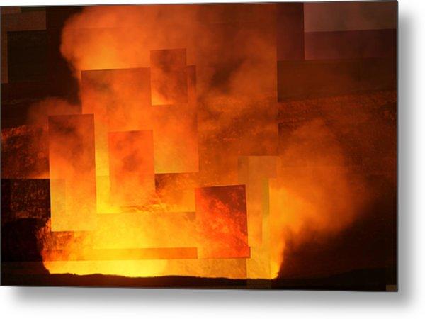 Volcanic Fire - Kilauea Caldera  Metal Print
