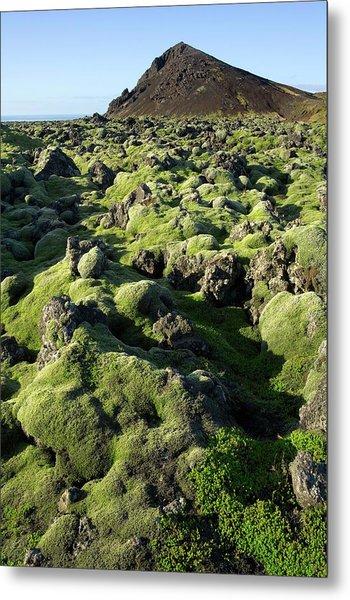 Volcanic Lava Field Metal Print